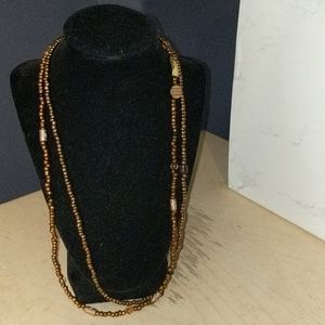 Copper colored beads Necklace Set